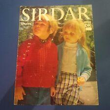 Sirdar Children's Raglan Zip-Up Sweater Knitting Pattern 4159