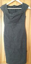 L K Bennett London Ladies Wool Dress Size 8 Grey Wool