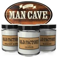 Old Factory Scented Candles for Men - Man Cave - Decorative Aromatherapy -