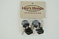 Lucy's Ukulele Vintage Style Color Friction Pegs Tuners Black Buttons