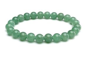 UK. Green Aventurine Crystal 8mm Gemstone Bead Bracelet.Healing Prosperity Lucky