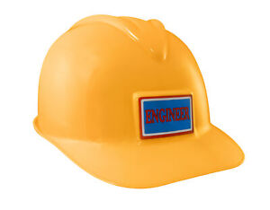 Adult Toy Plastic Construction Yellow Hard Hat Builder Helmet Worker Costume Cap