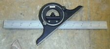 "Starrett Square with Protractor Head 12"" - No 4RGRAD Good Used Cond FREE SHIP t1"