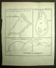ILE DE MINDANAO et JOSEPH FREEWILL Gravure Voyage de James COOK 1774