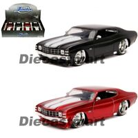 Jada 1:24 Big Time Muscle 1971 Chevrolet Chevelle SS Red / Black Diecast Car
