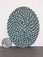 Dollhouse Miniature Oval Rug Green White 1:12 one inch scale F52 Dollys Gallery