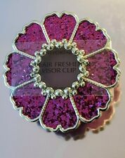 BATH BODY WORKS PURPLE GLITTER FLOWER SCENTPORTABLE HOLDER VISOR CLIP CAR AIR