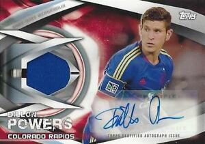 2015 Topps Major League Soccer Certified Autograph Relic Card - /25 /50 /75 /100