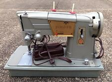 SINGER MODEL 328K SEWING MACHINE, CASE, FOOT PEDAL, MADE IN GREAT BRITAIN, WORKS