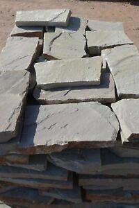 Wesersandstein Polygonalplatten grau-bunt Sandstein Naturstein