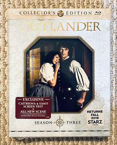 Outlander Season 3 (5 Disc Blu-Ray) Collector's Edition RARE OOP Brand NEW