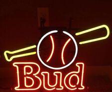 "New Bud Light Baseball Budweiser Beer Neon Sign 17""x14"""