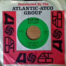 BETTY WRIGHT - WATCH OUT LOVE b/w HE'S BAD BAD BAD - ALSTON LBL - SOUL DANCE 45