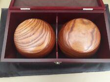 Go Set - 13x13 Reversible Board, Uniconvex Yunzi Stones, Jujube Bowls and Box
