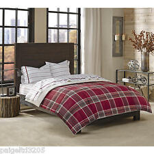 Cannon Down Alternative TWIN Comforter - Red Plaid