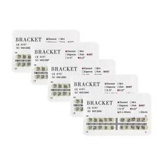 10XDental orthodontic mental bracket brace standard MBT slot 022 345hooks 20pcs