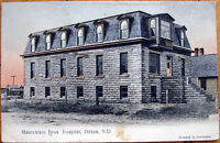 1909 Postcard: 'Maercklein Bros. Hospital - Oakes, North Dakota ND'