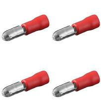 50 Rundstecker rot, Quetschverbinder f.Kfz + Elektro
