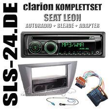 SEAT LEON 1P Autoradio KFZ Blende anthrazit + ISO Adapter Fakra Antennenstecker