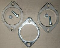 "Stainless Steel Exhaust Flange Plate Kit - 3"" Inch (76mm) with nuts & bolts"