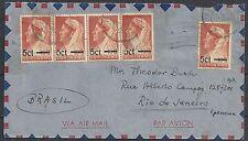 Surinam 1946 Airmailcover to Rio de Janeiro