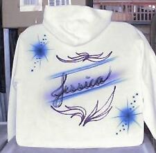 Custom Airbrushed Hooded Sweatshirt YOUR NAME Personalized S M L XL 2X 3X 4X 5X