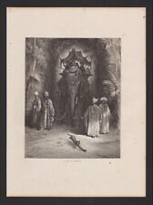Le rat and l'elephant The Fables Of Lafontaine Engraving Gustave Golden