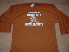MOTOR CITY METAL JACKETS PRACTICE HOCKEY JERSEY SIZE MEN'S 56 - BURNT ORANGE