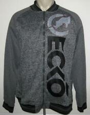 NEW 3XL ECKO MENS JACKET Zippered Coat Dark Heather Gray Grey 3XB 3X XXXL