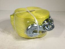 """Lift-All Winch Strap,Poly,30ft X 4"""" 61214, Yellow With Chain/Hook"""