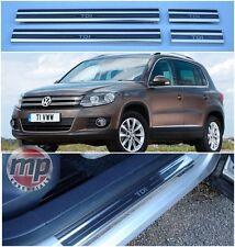 Volkswagen VW Tiguan TDi Polished Steel Kick Plate Car Door Sill Protectors K75x