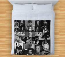 Large Warm Sofa Fleece Throw George Michael Black & White Photo Design Blanket