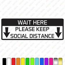 Social distancing sign, keep your distance 2 meters sign, door window shop sign
