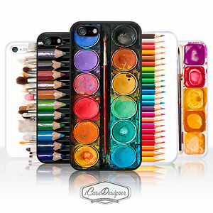 Artist Watercolour Painting Palette Colouring Pencil Case Cover for iPhone Range