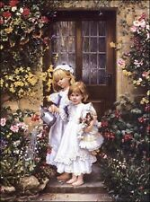 Sandra Kuck ENCHANTED COTTAGE 20x16 open edition unframed Victorian OUT OF PRINT