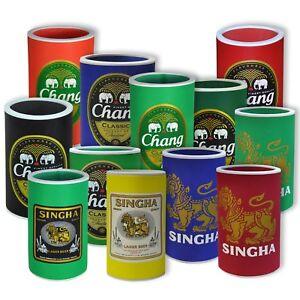 Neopren Getränkekühler Manschette für  Bierflaschen Dosen unterwegs Chang Singha