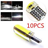 10pcs T10 W5W 6W LED Car Interior Light COB Bulb Wedge Parking Dome Light White
