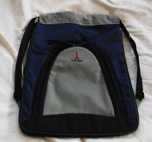TravelPro Parachute Blue Black Gray String Style Backpack Luggage Bag 17x14x4