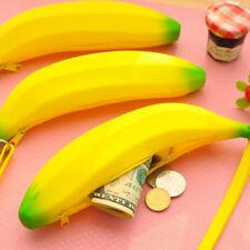 Funny Yellow Banana Money Coin Purse Wallet Kids Pencil Case Pouch School Gift