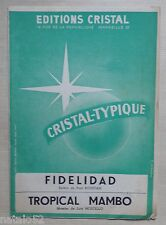 partition FIDELIDAD - TROPICAL MAMBO - orchestre - Ed. Cristal