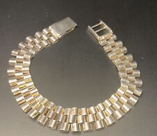 ROLEX STYLE Bracelet 925 Sterling Silver Italy Genuine 8inch 21.9 Grams