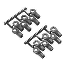 RPM 80472 Short Rod Ends (12), Black: 1/10 Slash 4x4, 2wd, Stampede VXL