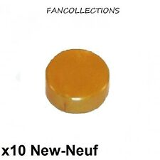 LEGO x 10 - Tile Round, rond lisse 1x1 Doré or/pearl gold - 98138 NEUF
