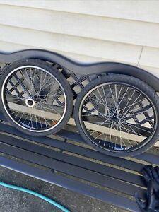 Vintage Mid School Alex EOE X-rIms 20in Bmx wheel set araya MISSING ONE SPOKE