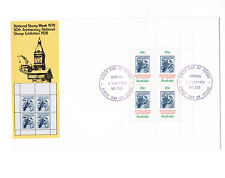 1978 Stamp Week Mini Sheet  FIRST DAY COVER