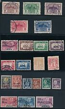 1930-1940 Thailand (22) DIFFERENT; ALL USED; CV $60+