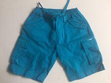 HAVENGIRL SHORTS 4 Aqua Blue Bermuda Or Long Shorts Summer Sequins Capri Pants