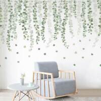 Foliage Green Leaves Wall Stickers Botanical Decal Home Decor Art Mural DIY Gift
