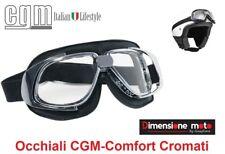 Occhiali CGM 702V-COMFORT Cromati con Lente Trasparente per Caschi tipo Bandit