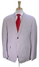 * THOM BROWNE * Handmade Gray/White Striped Seersucker 2-Btn Slim Suit 3 / 40R